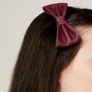American Apparel Leather Chocolate Bow
